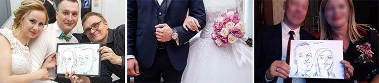 karykaturzysta atrakcje na wesele event karykatury