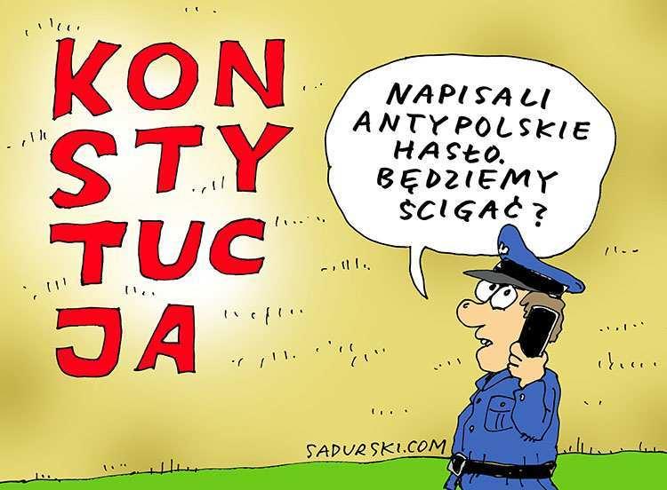 komentarze polityczne satyryczne satyra polska rysunek satyryczny
